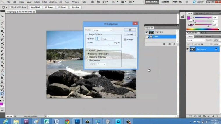 La compressione dei file grafici con Photoshop