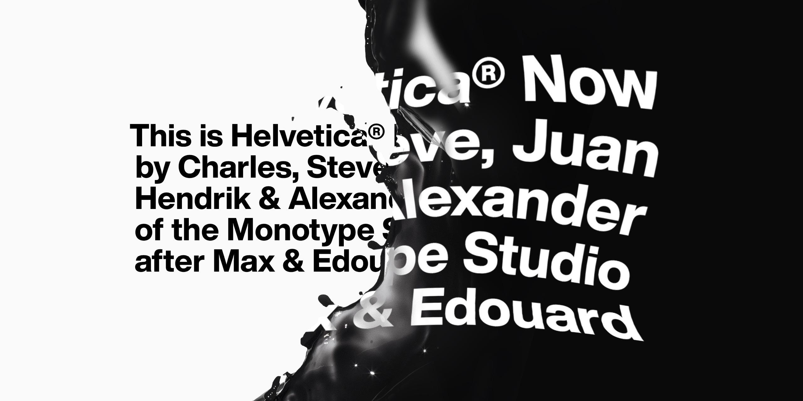 I nuovi caratteri del font Helvetica Now