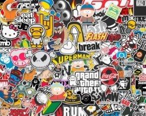 La storia degli stickers