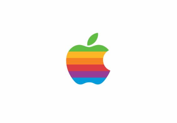 Il logo arcobaleno di apple