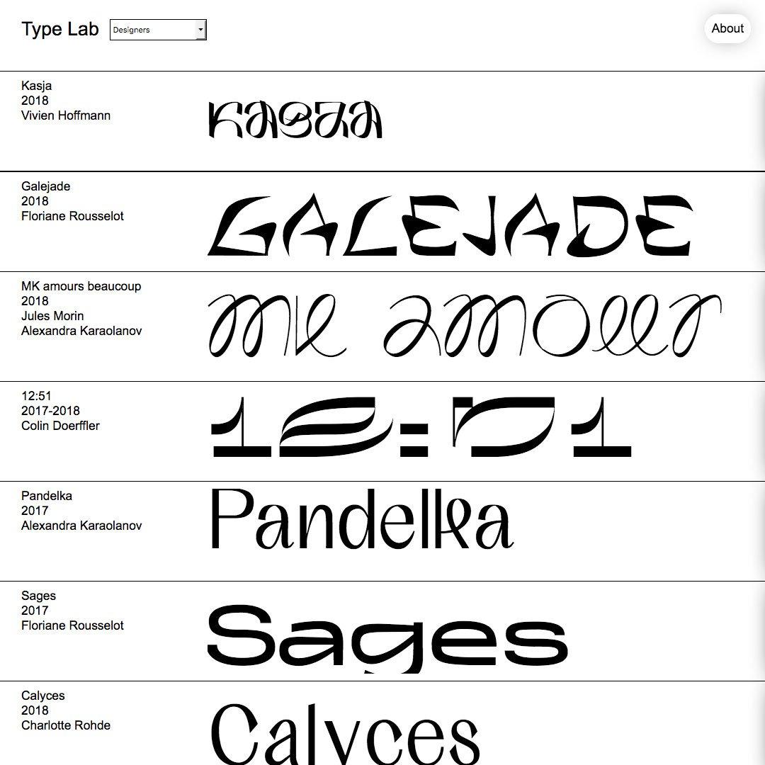 Typelab, la piattaforma di Type design