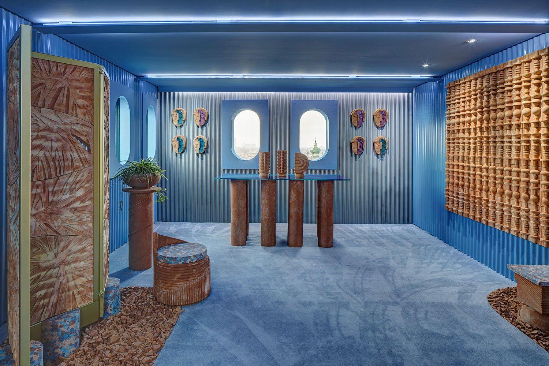 Interior design classic blue