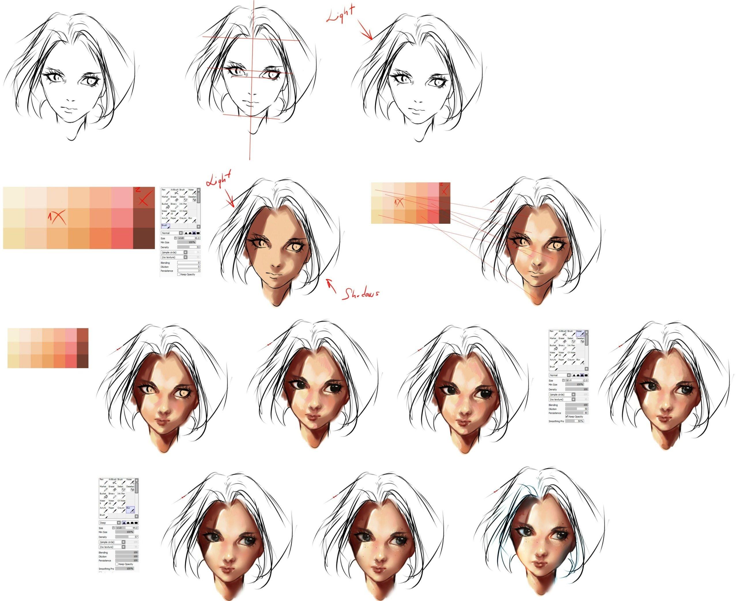 Digital coloring