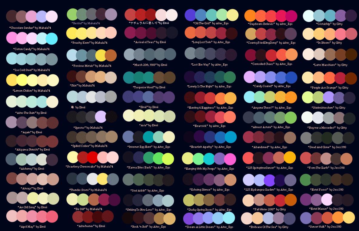 Palette grafiche per il digital coloring