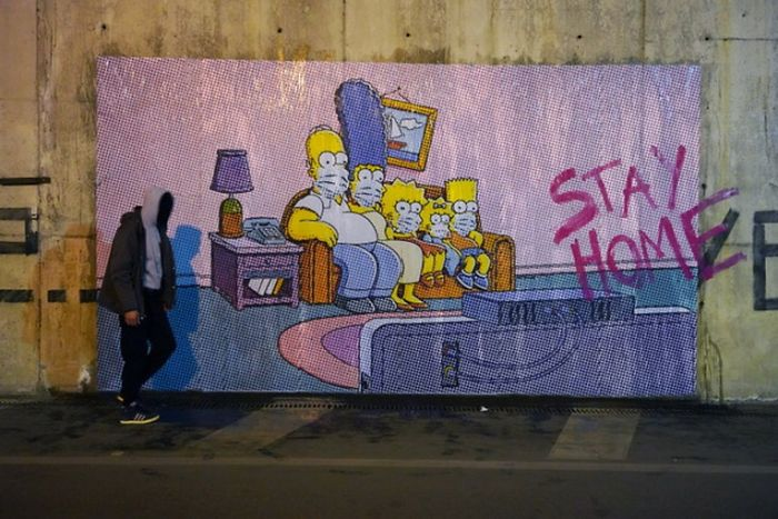 Street art da pandemia