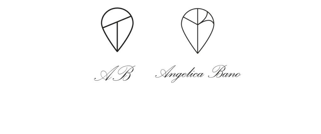 """La scelta del logo minimalista è basata sulle esigenze comunicative specifiche del brand da rappresentare. Partendo da un modellino stilizzato (a sinistra), si arriva a un risultato finale elegante e """"romantico"""" (a destra), più in linea con le esigenze comunicative aziendali di questo brand."""