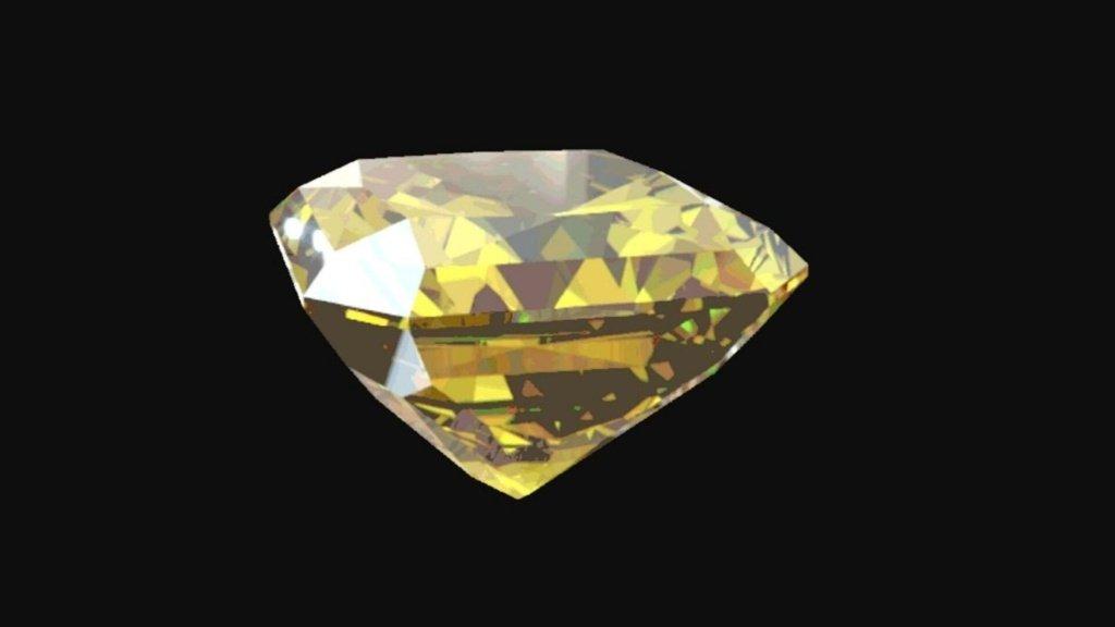 La colorazione di un diamante in Vantablack.
