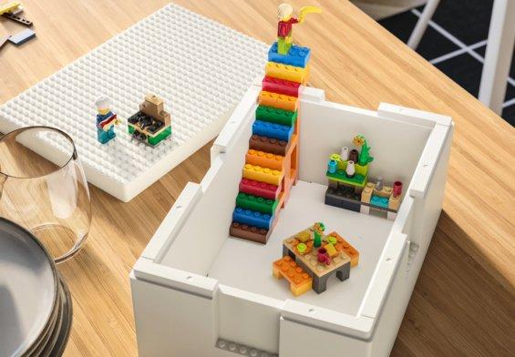 Bygglek, lego + ikea