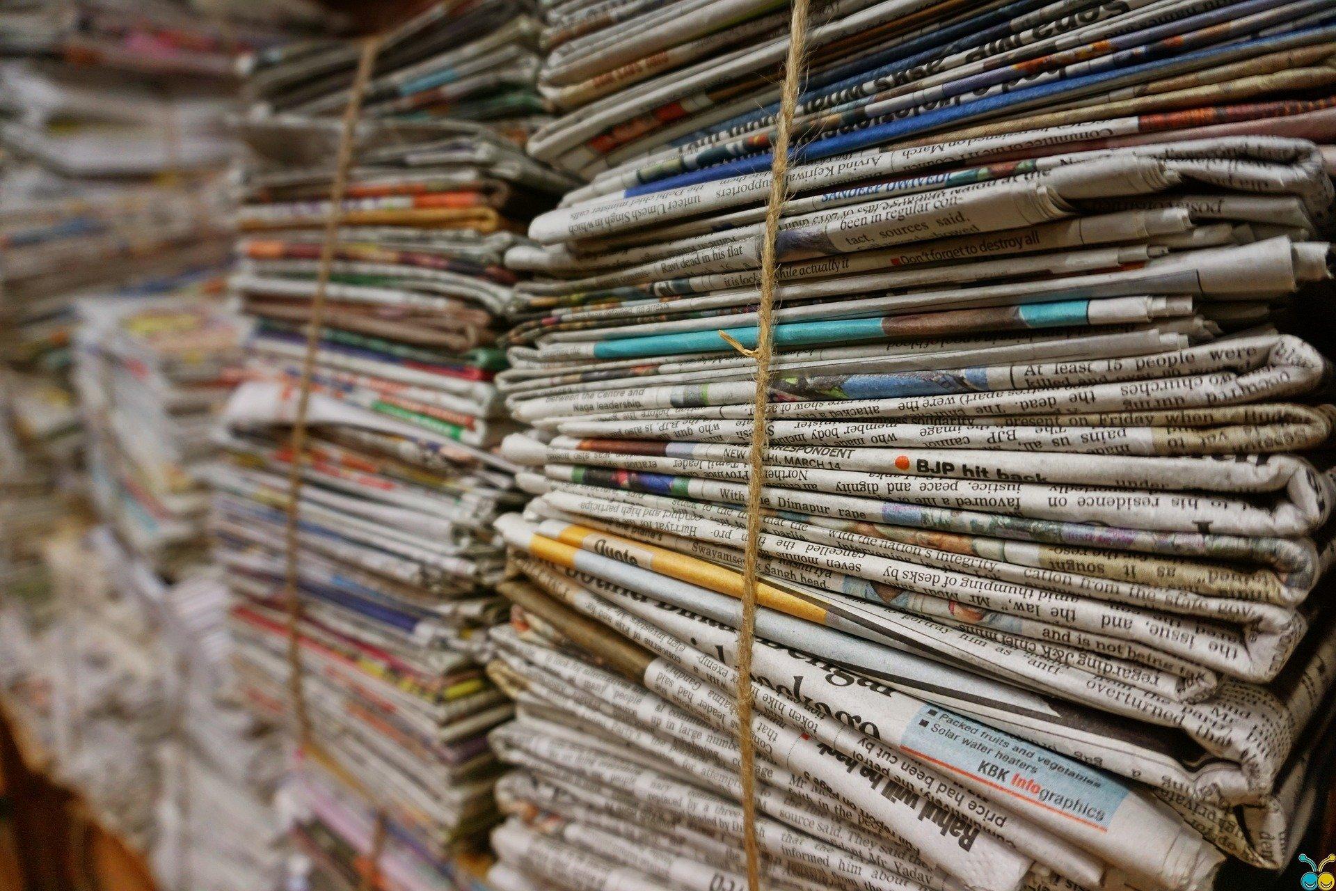 riciclo creativo con la carta di giornale