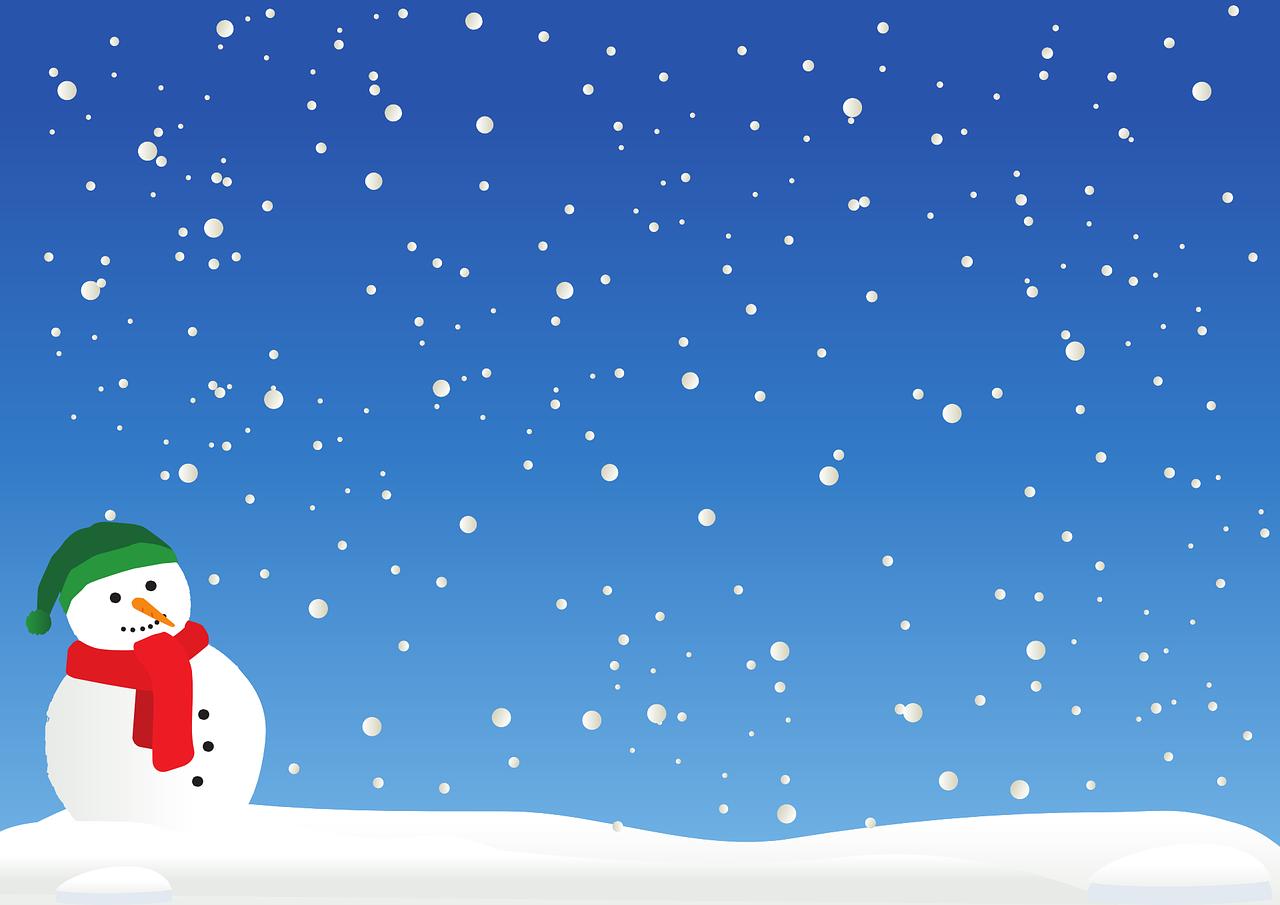 disegnare con i numeri pupazzo di neve