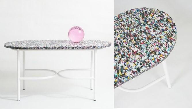 oggetti riciclati per il tavolo